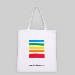 Tote Bag Polaroid Originals Blanca Logo Color