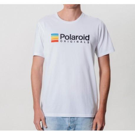 Camiseta Polaroid Originals Blanca Logo Color