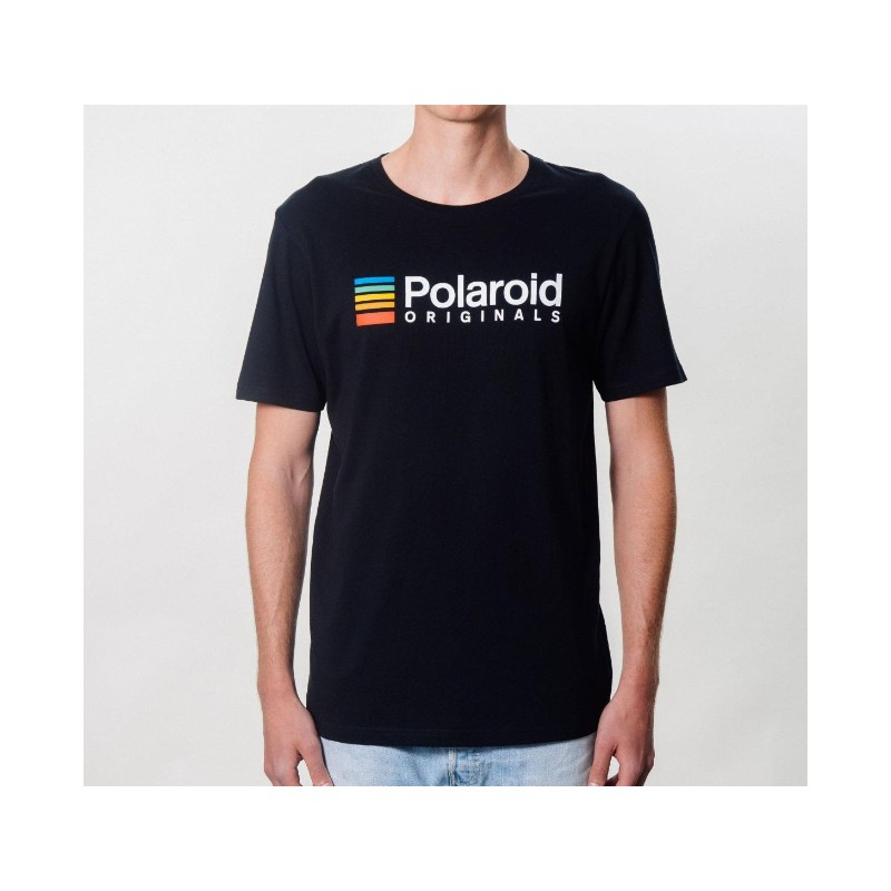 Camiseta Polaroid Originals Negra Logo Color