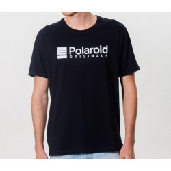 Camiseta Polaroid Originals Negra Logo Blanco