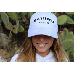Gorra blanca Malvarrosa Beach Club, a la venta en El Miracle tienda Valencia.
