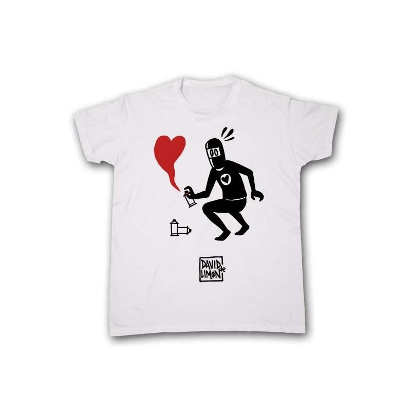 Camiseta Romantic Corazón rojo, para chico de David de Limón, a la venta en El Miracle tienda Valencia.