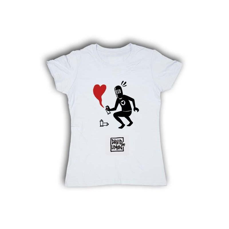 Camiseta Romantic Corazón rojo, para chica de David de Limón, a la venta en El Miracle tienda Valencia.