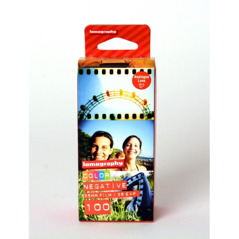 Carrete de 35mm ISO 100 de Lomography. Pack de 3 unidades de 36 exposiciones cada una. Tienda fotografia Valencia.