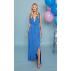Vestido Luna Maru Atelier en azul, a la venta en El Miracle Tienda Boutique en Valencia.