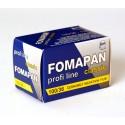 Carrete negativo Fomapan iso 100 en Blanco y Negro, a la venta en El Miracle, tienda en Valencia.
