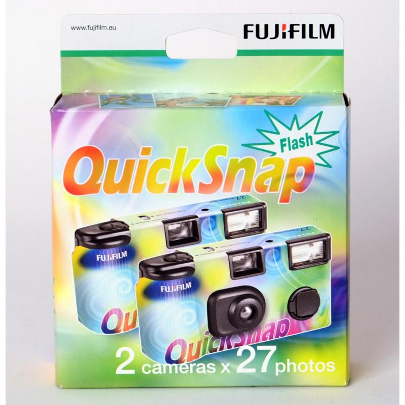 Pack de 2 cámaras de un solo uso de Fujifilm. 27 Exposiciones ISO 400 con flash. En El Miracle tienda en Valencia