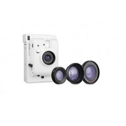 Cámara instantánea de Lomography Lomoinstant  con lentes blanca   Tienda de fotografia El Miracle Valencia.