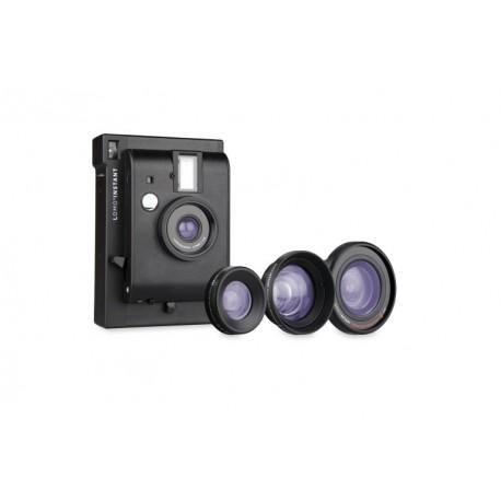Cámara instantánea de Lomography Lomoinstant  con lentes negra  Tienda de fotografia El Miracle Valencia.
