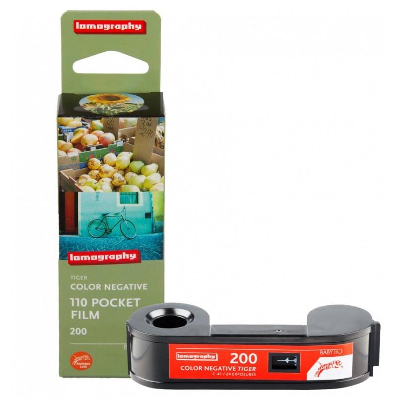 Carrete de 110mm ISO 200 de Lomography. 24 exposiciones Tiger Tienda fotografia Valencia.