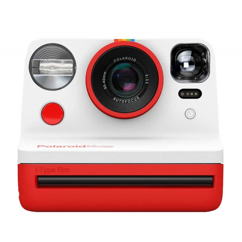 Nueva cámara de fotografía instantánea Polaroid Now Roja. Puede usar cartuchos i-type y 600 Tienda en Valencia