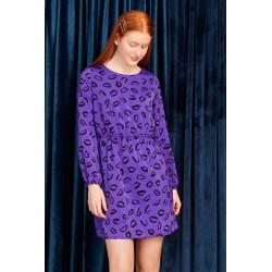 Vestido Kelsie morado con besos de Minueto , a la venta en El Miracle , tienda boutique en Valencia.