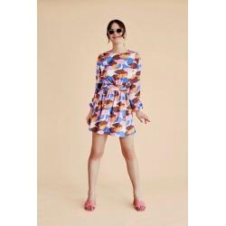 Vestido corto de Nubes , de Kling , a la venta en El Miracle . Tienda boutique en Valencia.